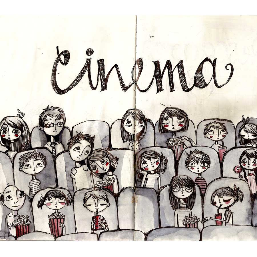 Cinema - The Sketchbook Project by The Brooklyn Art Library (NY)