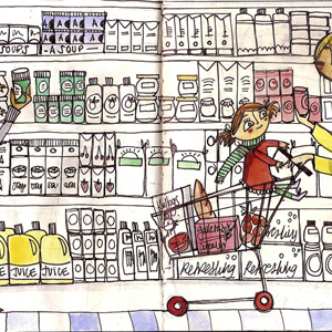 Supermarket - The Sketchbook Project by The Brooklyn Art Library (NY)